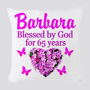 LOVING 65TH Woven Throw Pillow