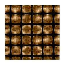 Cool Chic Orange Checked Tile Coaster