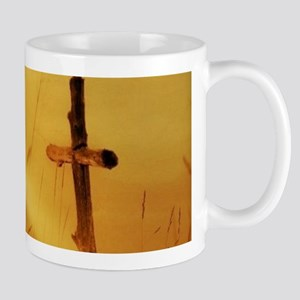 inspirational sunrays golden cross Mugs