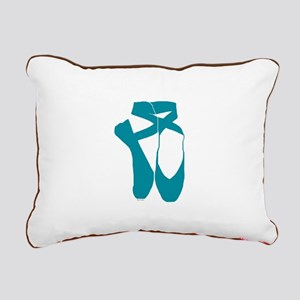 Team Pointe Turquoise Rectangular Canvas Pillow