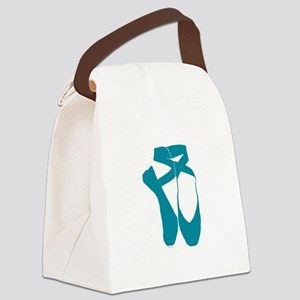 Team Pointe Turquoise Canvas Lunch Bag