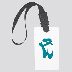 Team Pointe Turquoise Large Luggage Tag