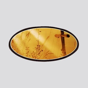 inspirational sunrays golden cross Patch