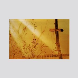 inspirational sunrays golden cross Magnets