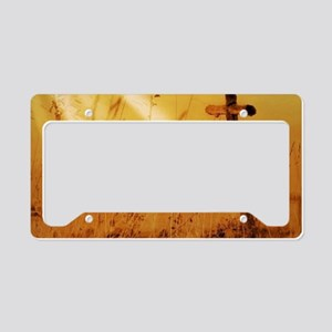inspirational sunrays golden License Plate Holder