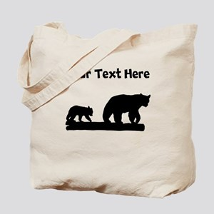 Bear And Cub Silhouette Tote Bag
