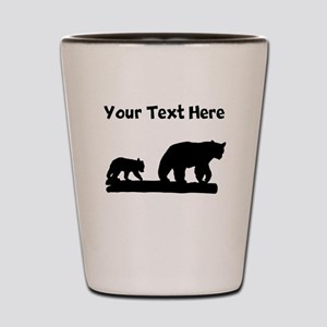 Bear And Cub Silhouette Shot Glass