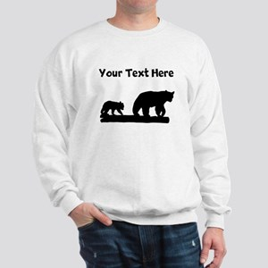 Bear And Cub Silhouette Sweatshirt