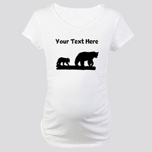 Bear And Cub Silhouette Maternity T-Shirt