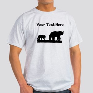Bear And Cub Silhouette T-Shirt