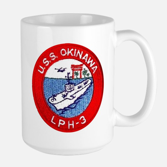 LPH-3 USS Okinawa Large Mug