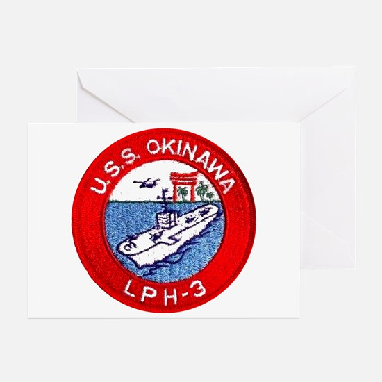 LPH-3 USS Okinawa Greeting Cards (Pk of 10)