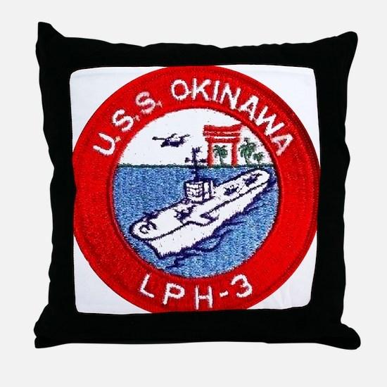 LPH-3 USS Okinawa Throw Pillow