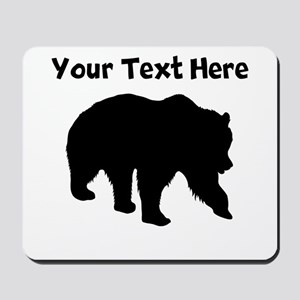 Grizzly Bear Silhouette Mousepad