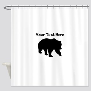 Grizzly Bear Silhouette Shower Curtain