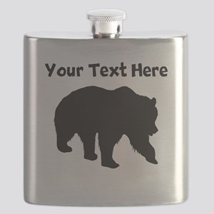 Grizzly Bear Silhouette Flask