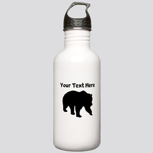 Grizzly Bear Silhouette Water Bottle
