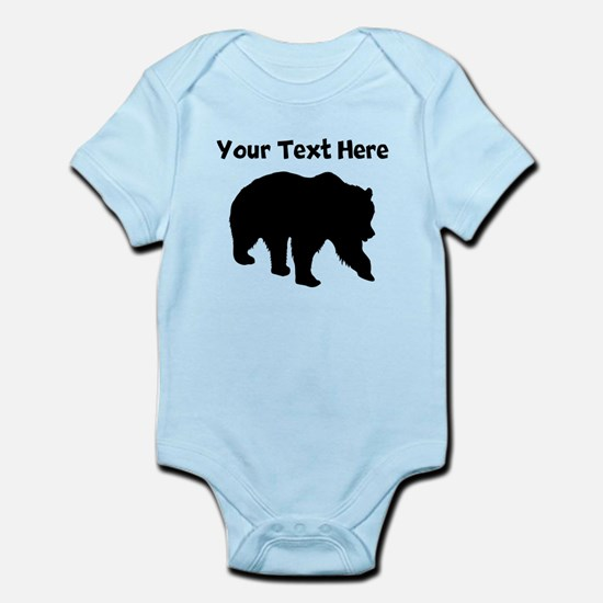 Grizzly Bear Silhouette Body Suit