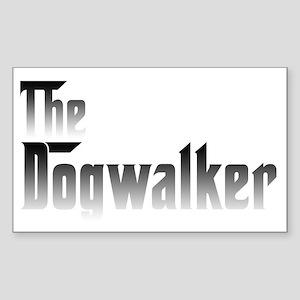 Dogwalker Rectangle Sticker