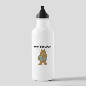 Custom Librarian Bear Water Bottle
