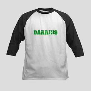 Darrius Name Weathered Green Desig Baseball Jersey