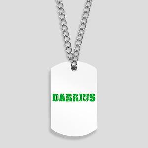 Darrius Name Weathered Green Design Dog Tags