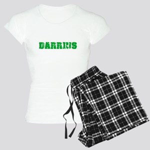 Darrius Name Weathered Green Design Pajamas