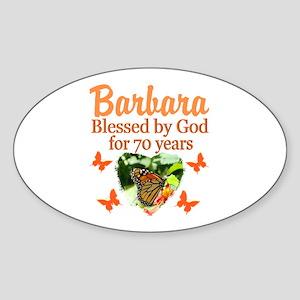 JOYOUS 70TH Sticker (Oval)