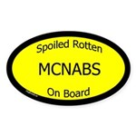Spoiled McNabs On Board Oval Sticker