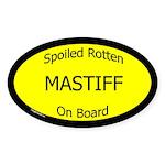 Spoiled Mastiff On Board Oval Sticker