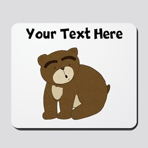 Custom Eyebrows Bear Mousepad