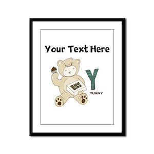 Custom Yummy Bear Framed Panel Print