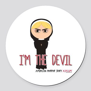 American Horror Story Chibi Siste Round Car Magnet