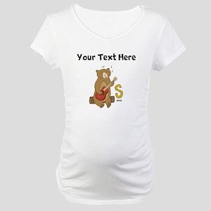 Custom Sing Bear Maternity T-Shirt