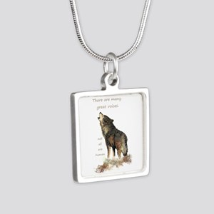 Many Great Voices Inspirational Wolf Necklaces