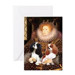 The Queens Cavalier Pair Greeting Card