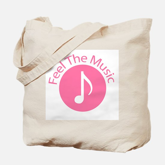 Pink / Feel the Music Tote Bag