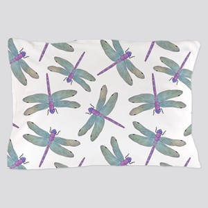Watercolor Dragonfly Pattern Pillow Case