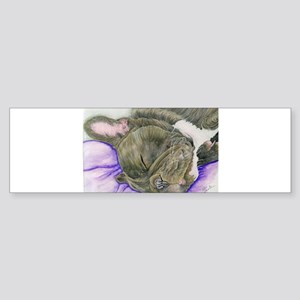 Sleepy Frenchie Bumper Sticker