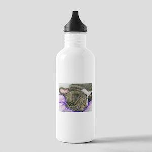 Sleepy Frenchie Water Bottle