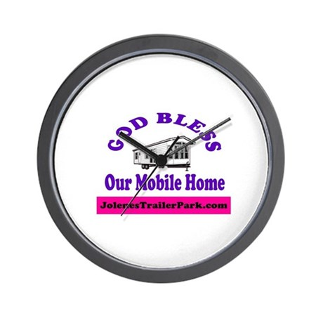 God Bless Mobile Home Wall Clock
