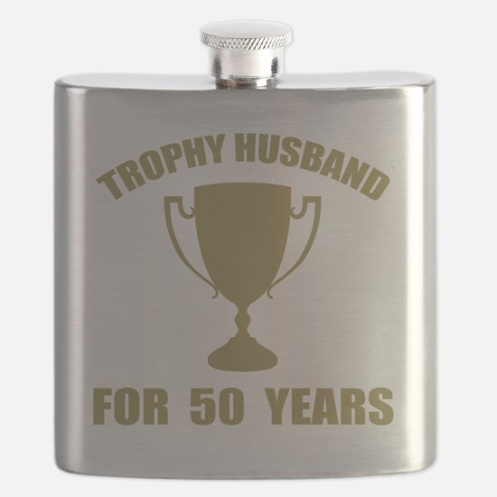 Trophy Husband For 50 Years Flask