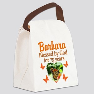 JOYOUS 75TH Canvas Lunch Bag