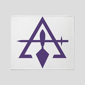Cryptic Masonry Throw Blanket
