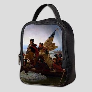 Washington Crossing the Delawar Neoprene Lunch Bag