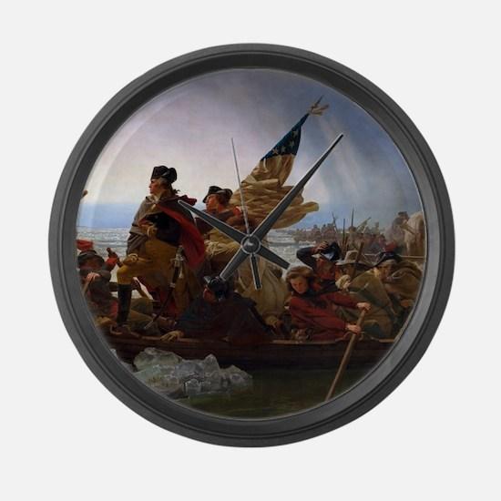 Washington Crossing the Delaware Large Wall Clock