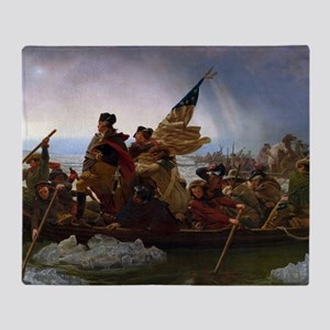 Washington Crossing the Delaware Throw Blanket