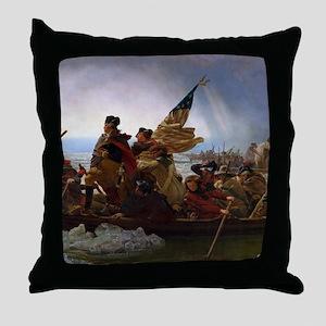 Washington Crossing the Delaware Throw Pillow