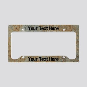 Custom Rust License Plate Holder