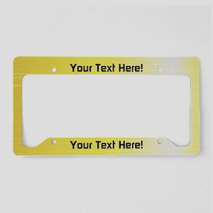 Custom Yellow Aluminum License Plate Holder